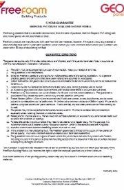 Homeowner freefoam for Homeowner selection sheet